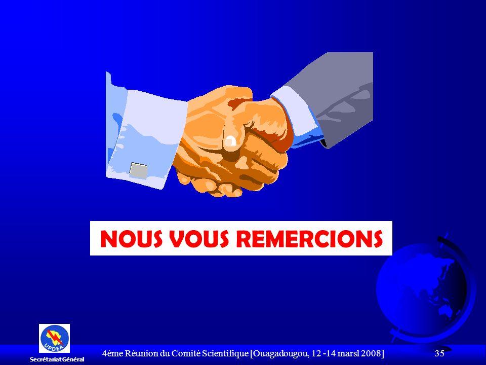 4ème Réunion du Comité Scientifique [Ouagadougou, 12 -14 marsl 2008]